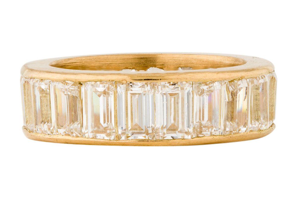 14k 4 80ctw diamond band ring
