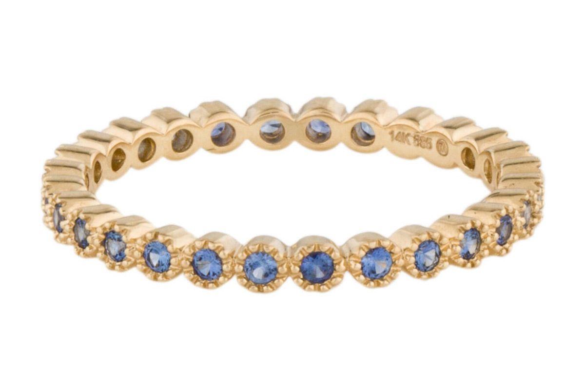 14k sapphire eternity band ring