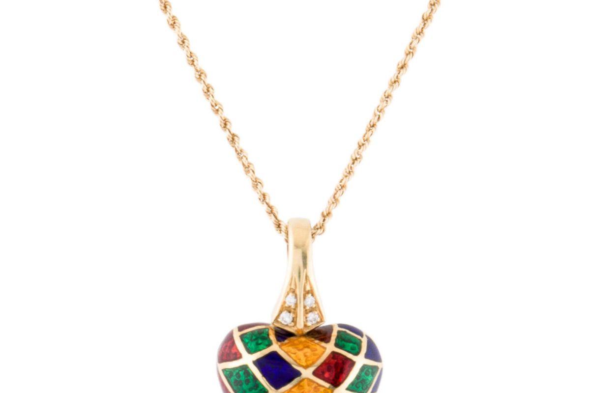 18 k diamond pendant necklace