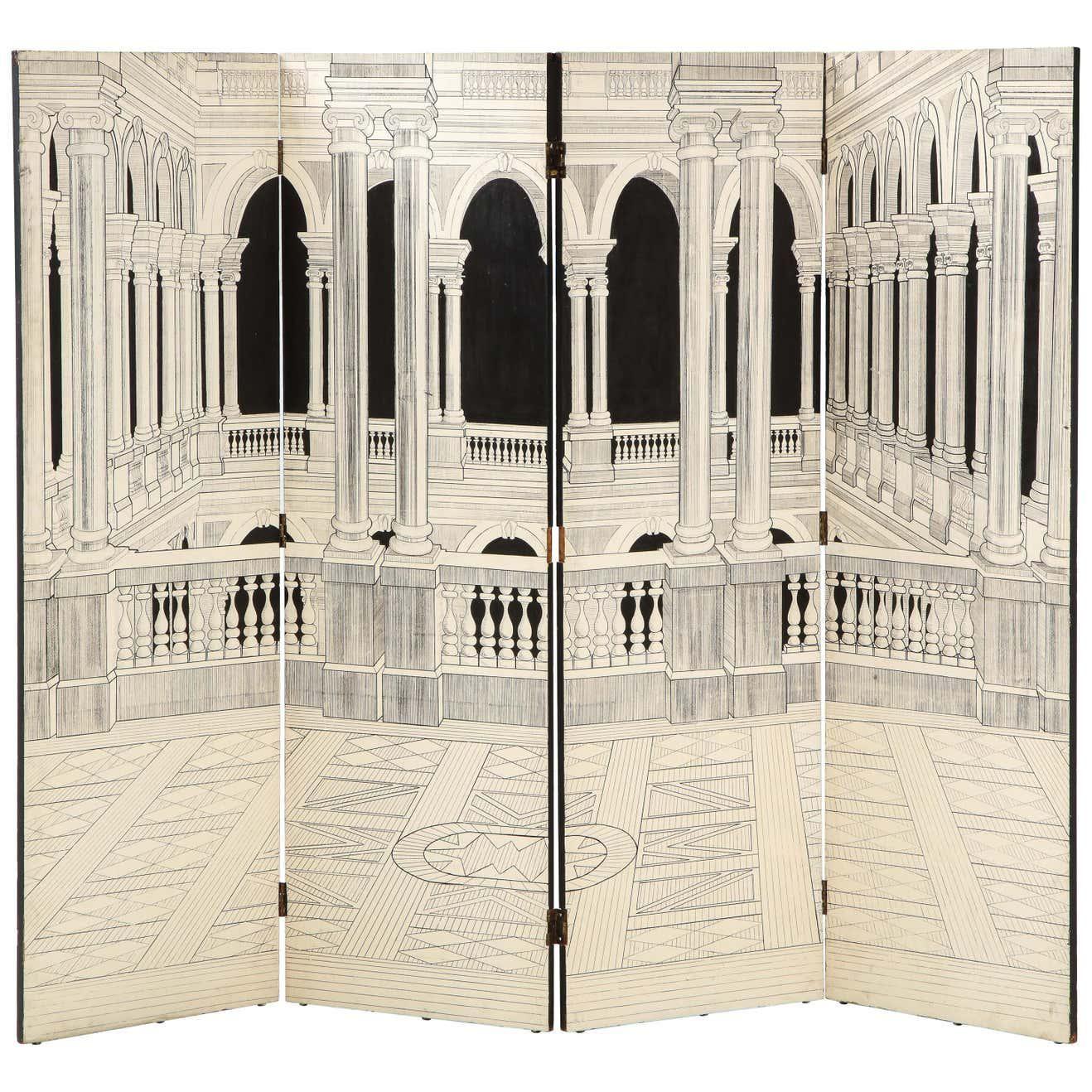 1st dibs painted italian interior wood screen