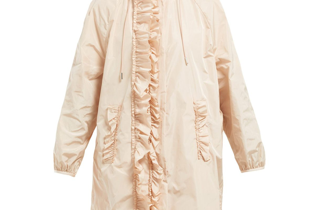 4 moncler simone rocha ruffled technical sateen rain jacket