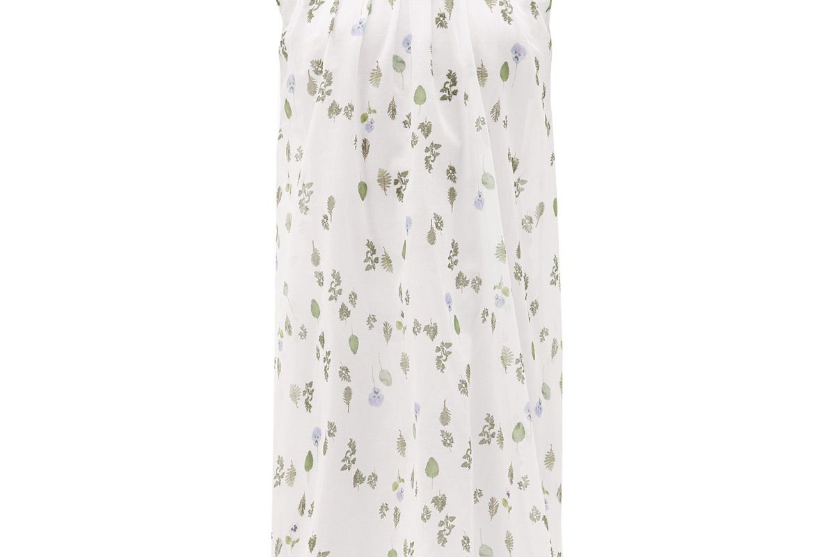 about muza ruffled floral print cotton batiste nightgown