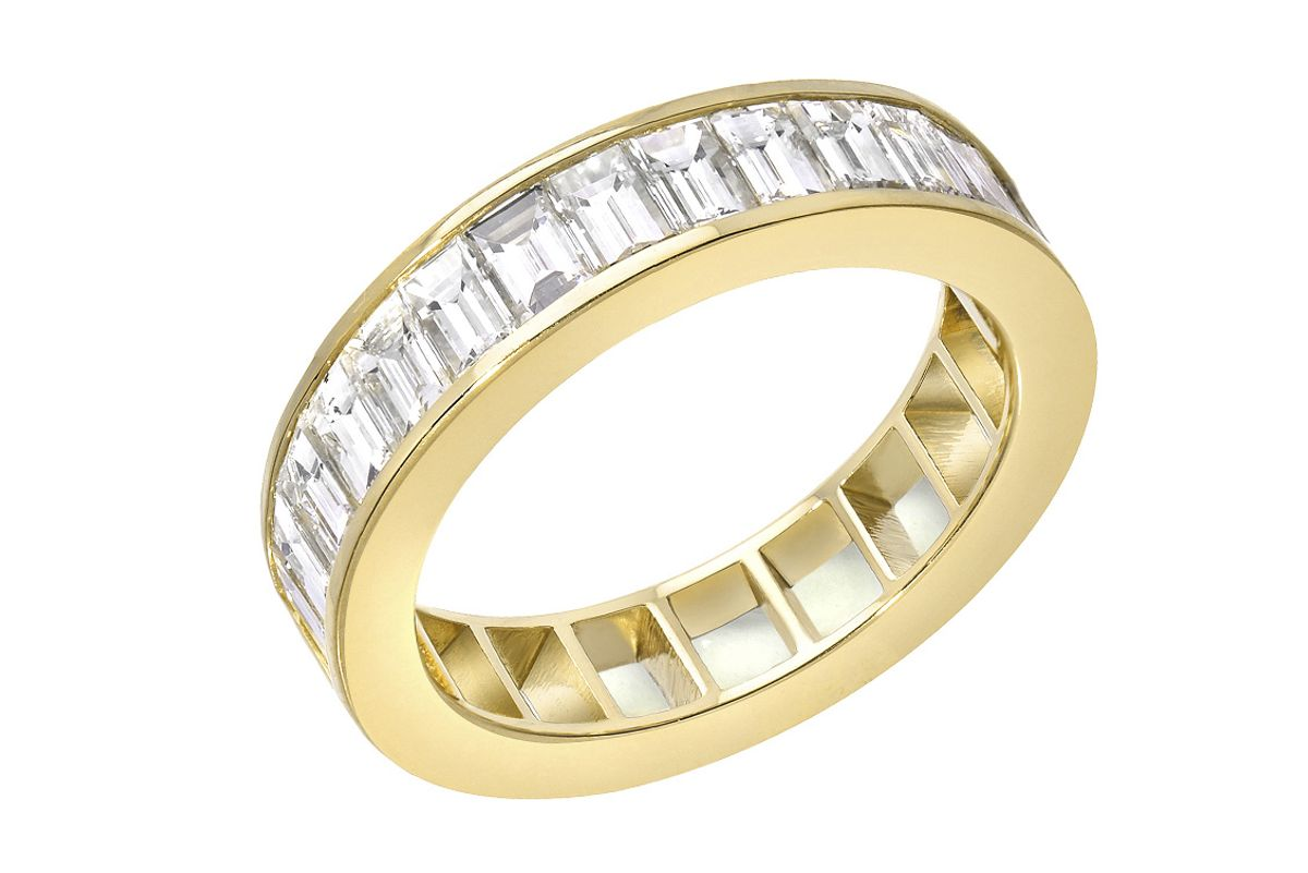 50/50 Ring with Diamonds
