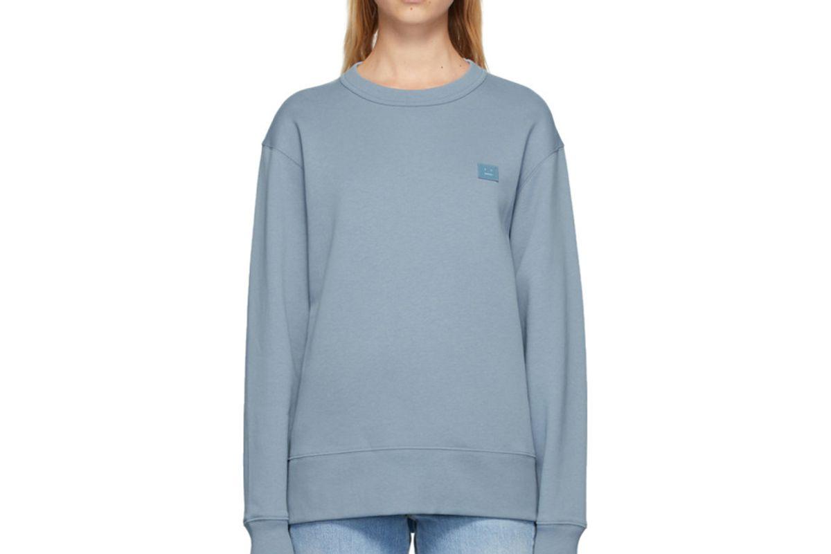 acne studios blue fairview sweatshirt