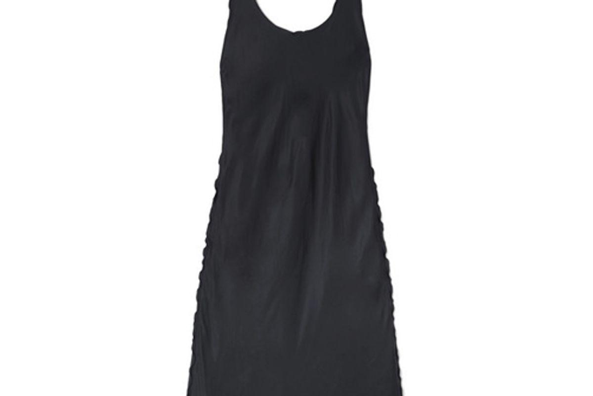 acne studios bow detailed satin midi dress