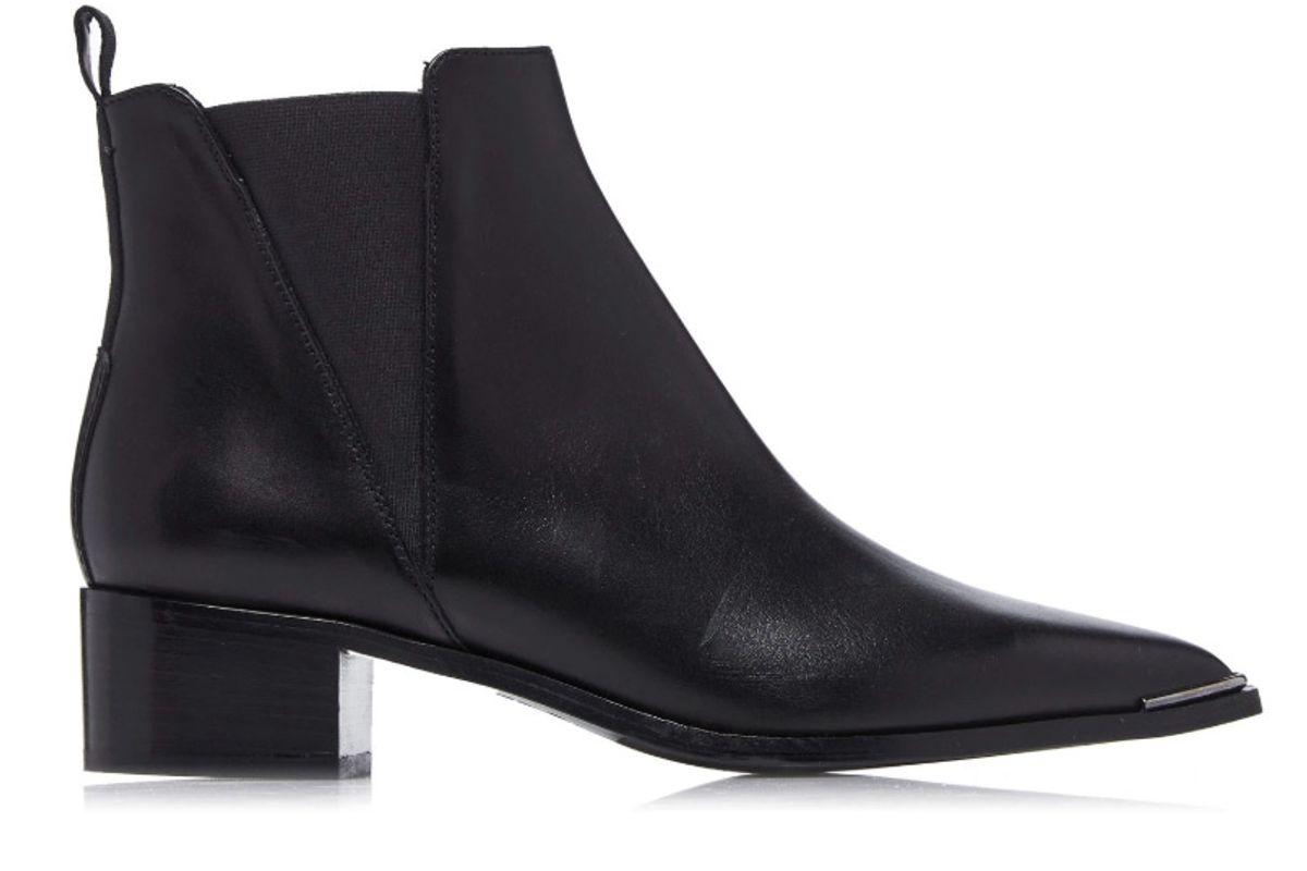 acne studios jensen leather chelsea boots