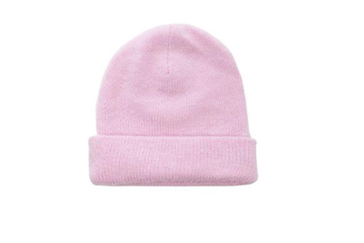 acne studios pilled beanie powder pink