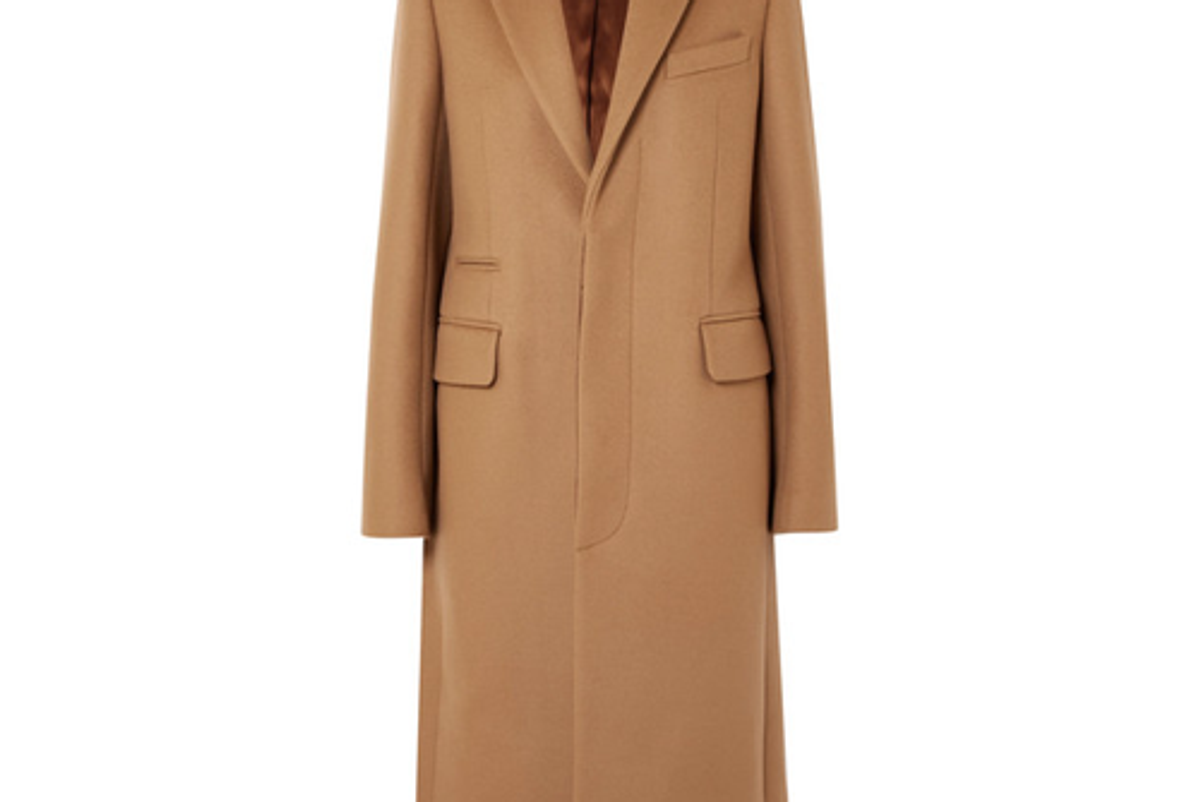 acne studios wool blend felt coat