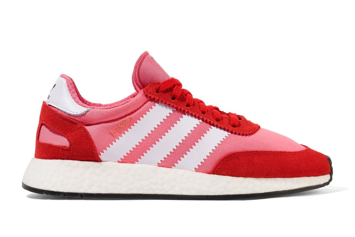 adidas originals i-5923 neoprene and suede sneakers