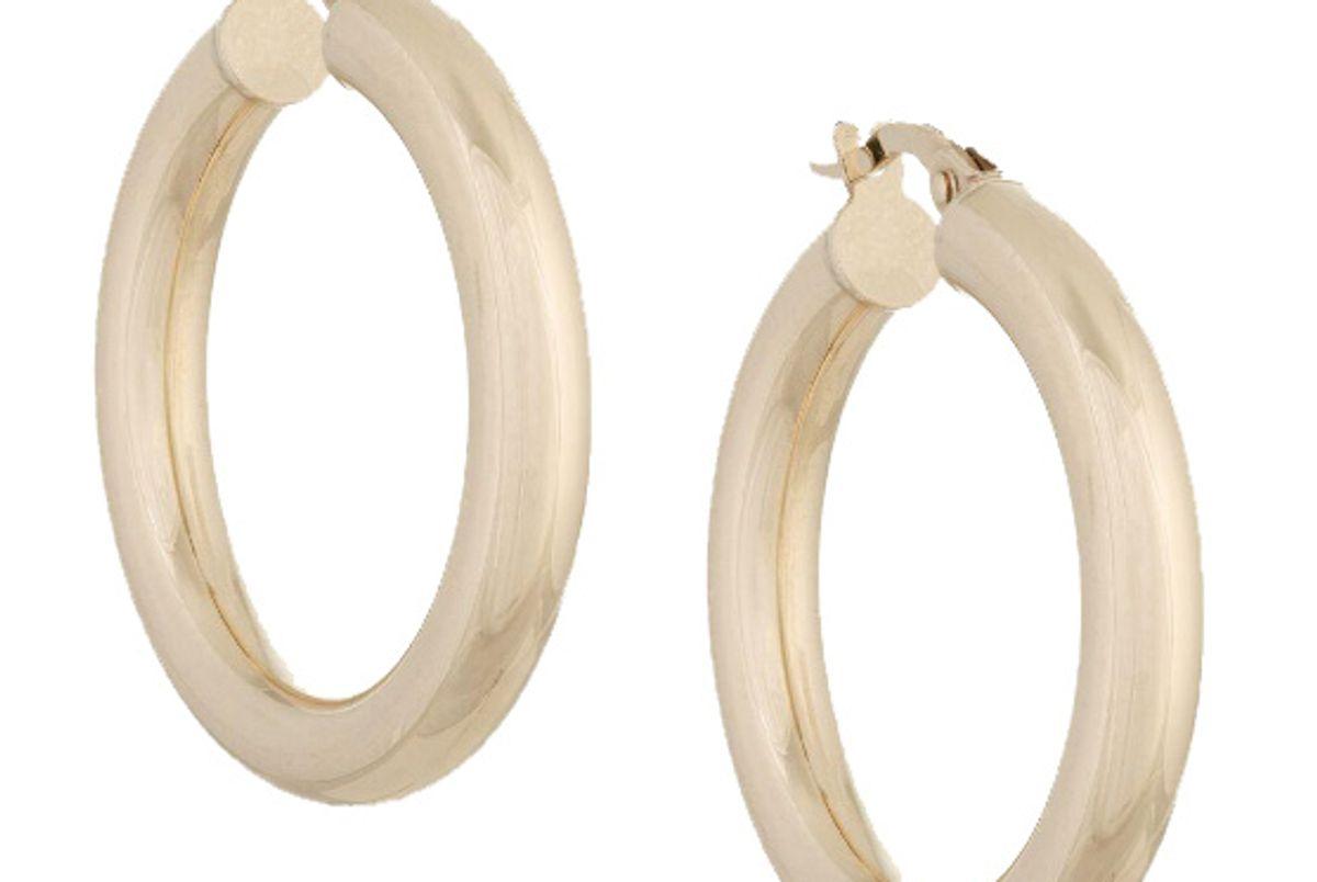 adina's jewels hollow hoops