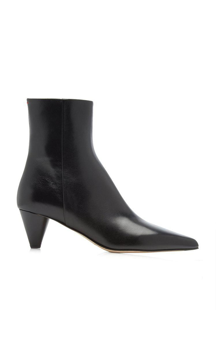 aeyde carly calf leather ankle boots