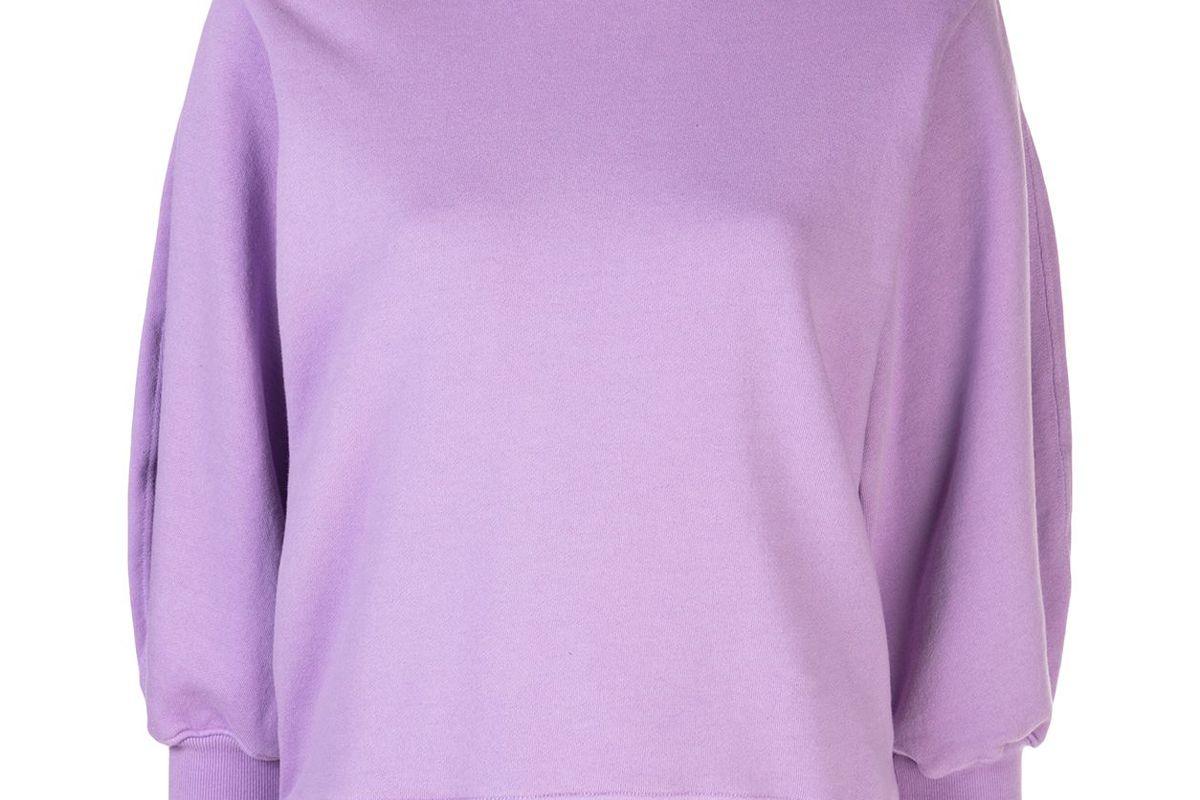 agolde cropped sleeve round neck sweatshirt