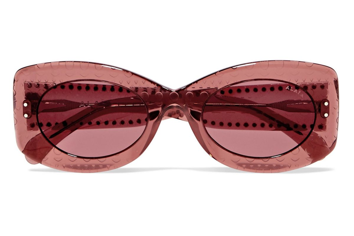 alaia square frame studded acetate sunglasses