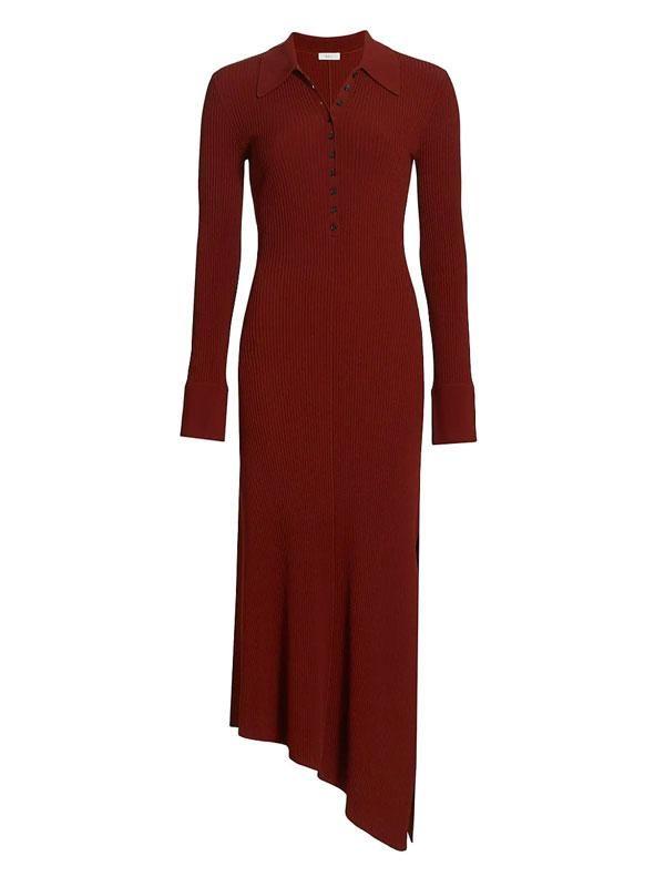 alc lance asymmetric maxi polo dress