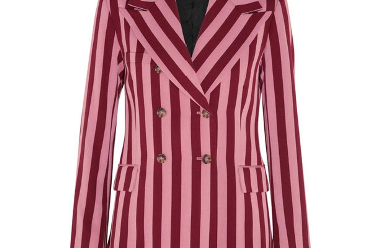 Striped crepe blazer