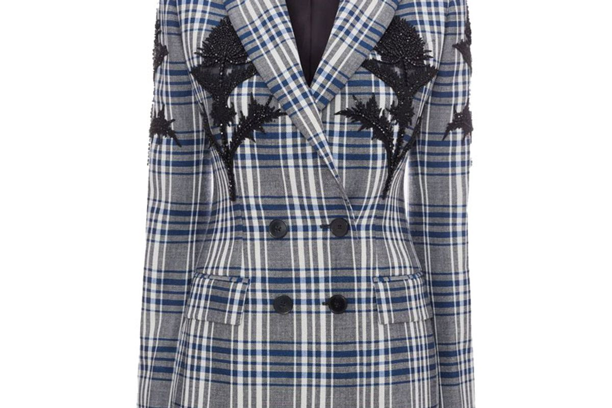Embroidered Celtic Check Jacket