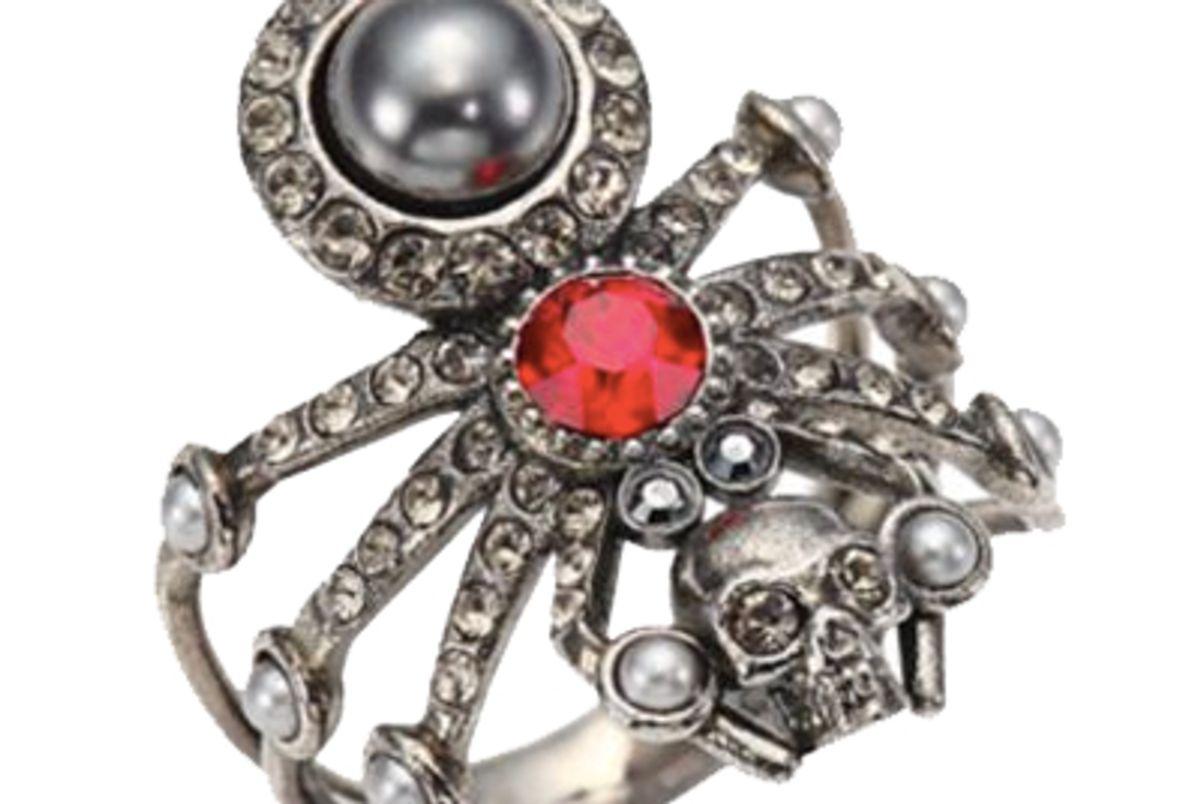 Spider Skull Crystal Ring