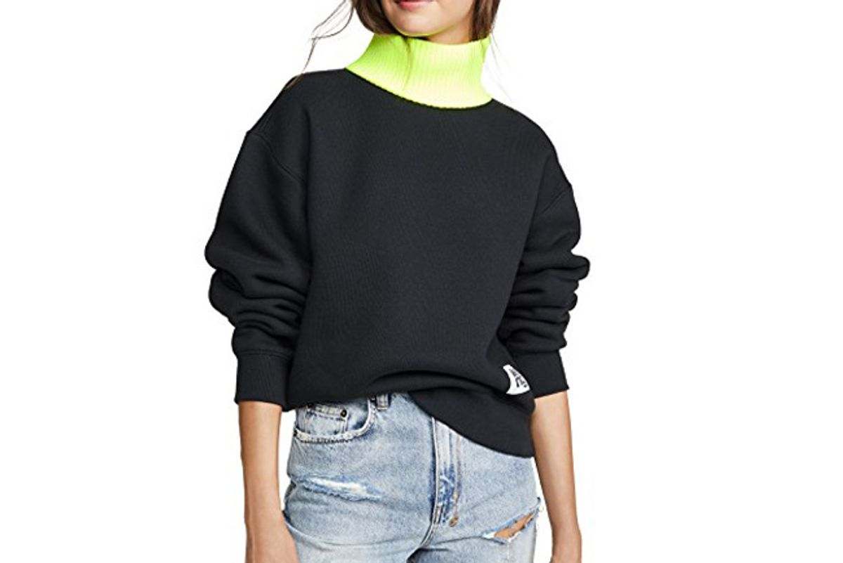 alexander wang t dense fleece sweatshirt