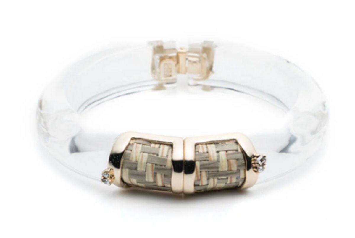 alexis bittar petite raffia hinge bracelet