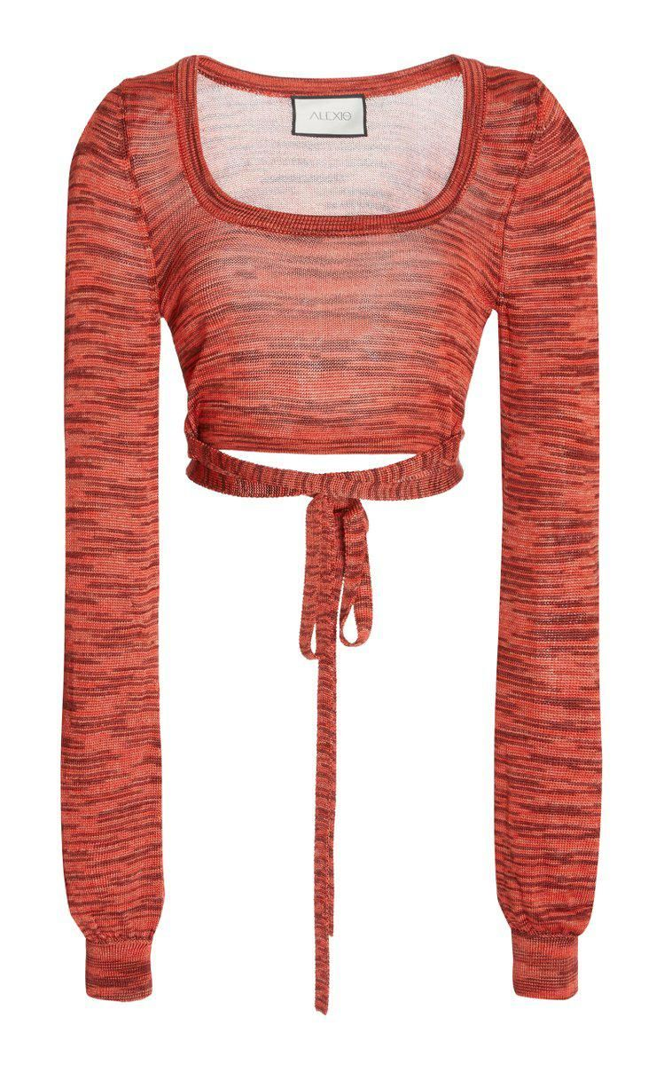 alexis loli space dyed knit crop top