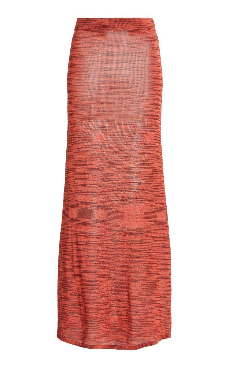 alexis monse space dyed knit maxi skirt