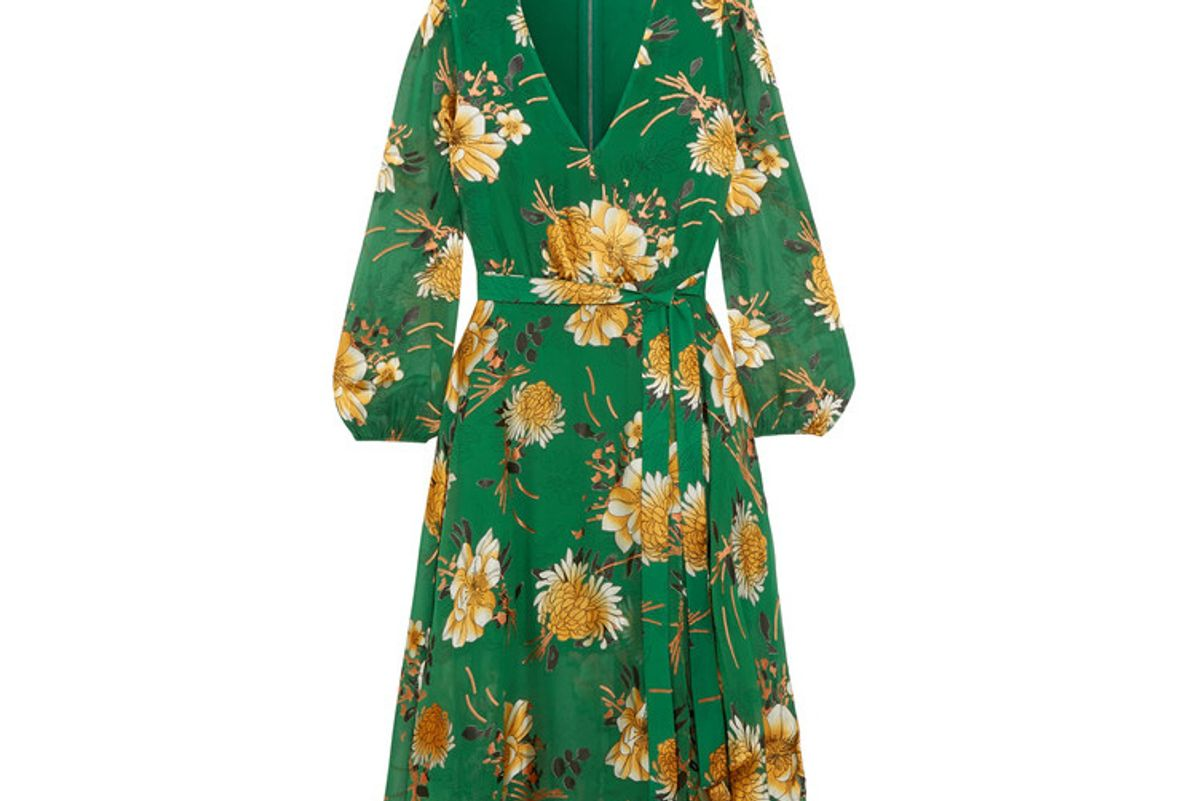 Coco Floral-print Fil Coupé Chiffon Dress
