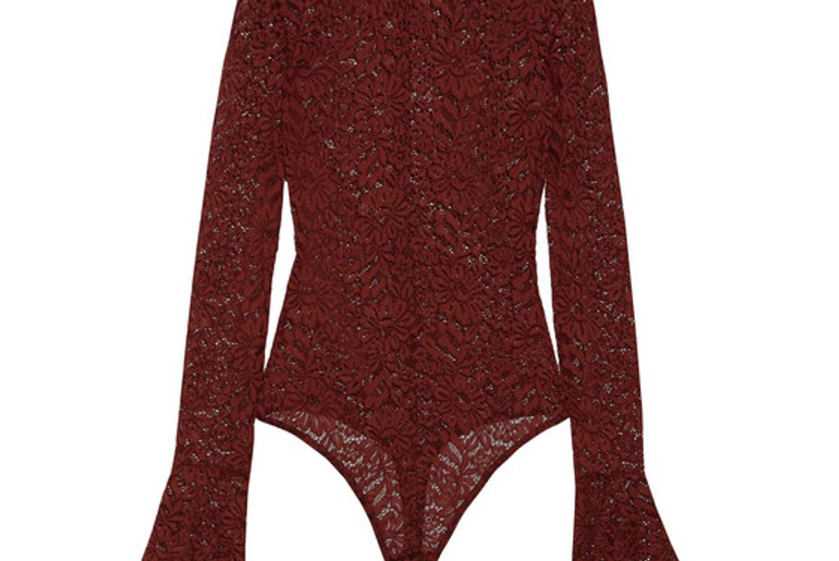 Haven Stretch-Corded Lace Bodysuit