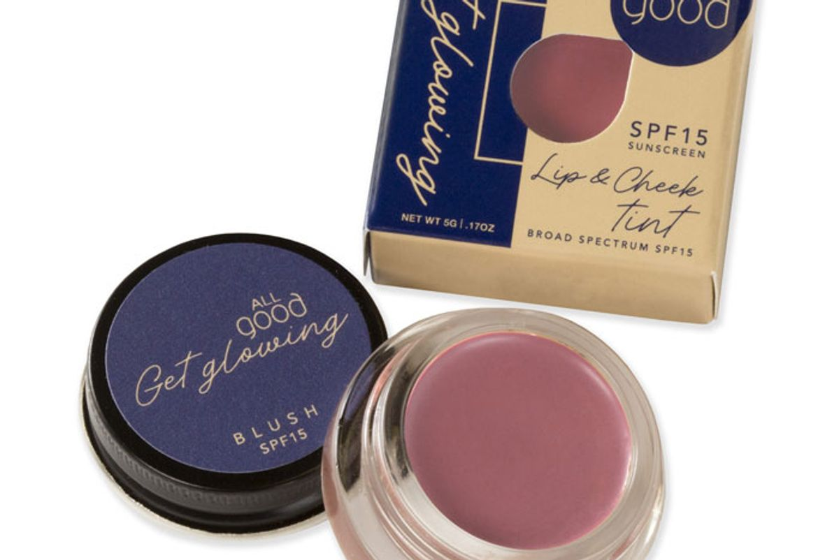 all good lip and cheek tint spf 15
