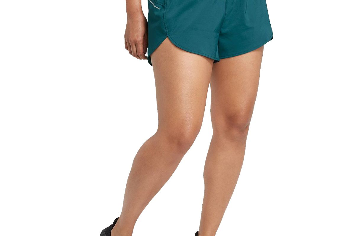 all in motion womens mid rise run shorts 3 inches