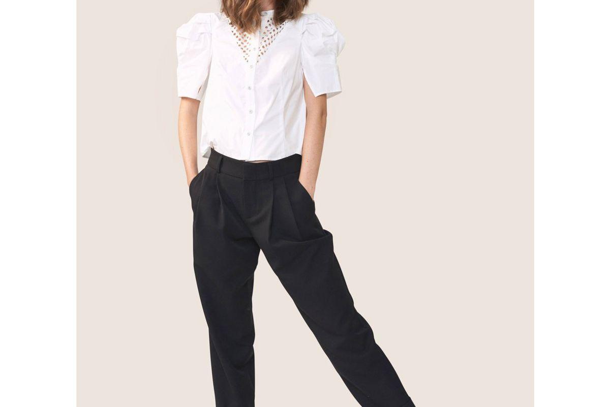allen schwartz cleo statement sleeve blouse