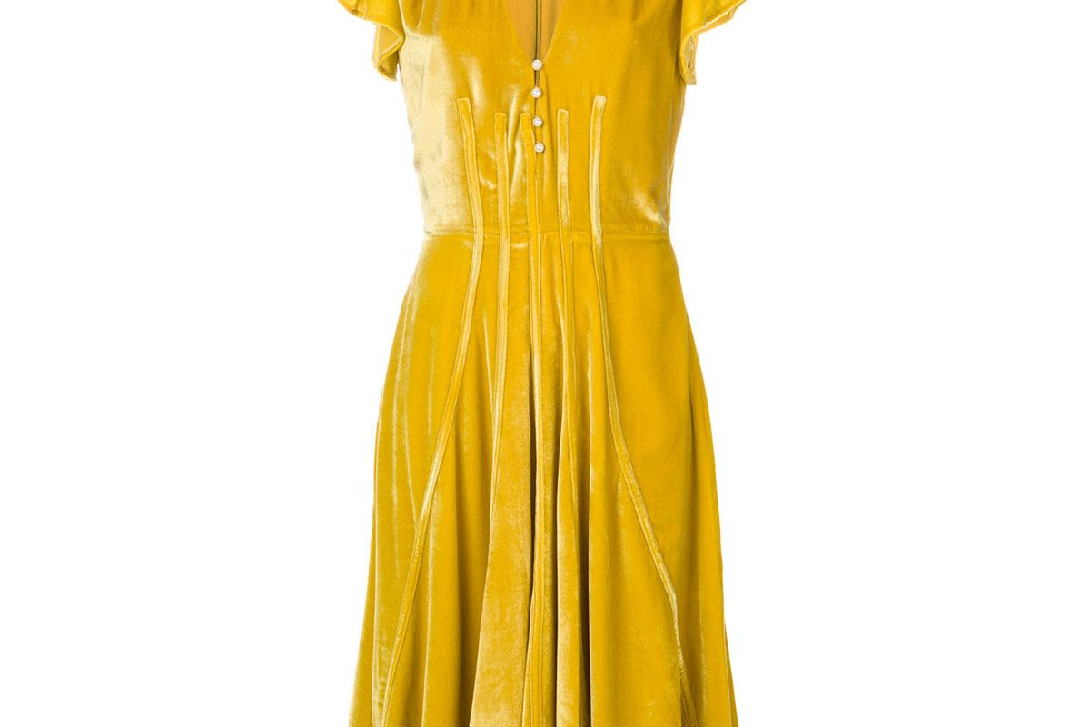 V-Neck Flared Dress