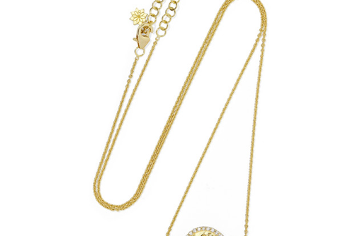 amrapali thamarai lotus 18 karat gold topaz diamond necklace