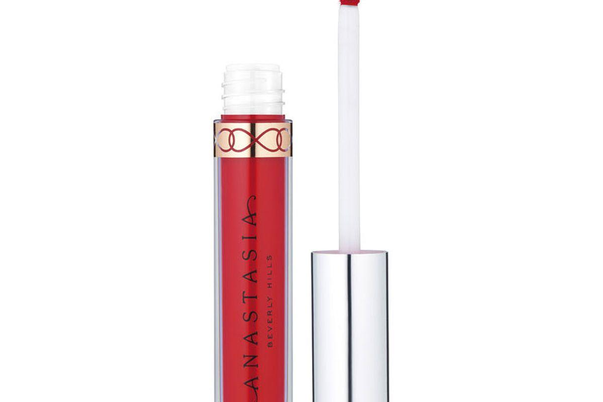 anastasia beverly hills liquid lipstick in strawberry