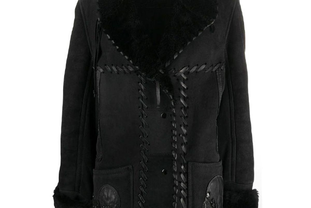 angelo vintage cult 1980 shawl collar coat