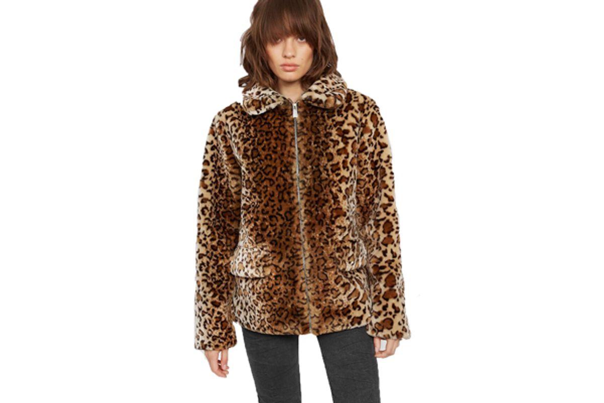 molly faux fur jacket leopard