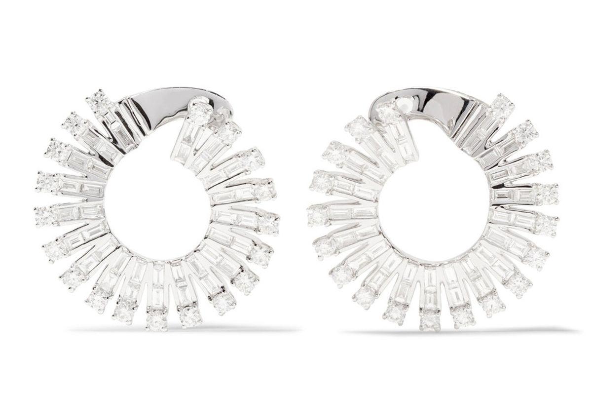 Ava 18-Karat White Gold Diamond Earrings