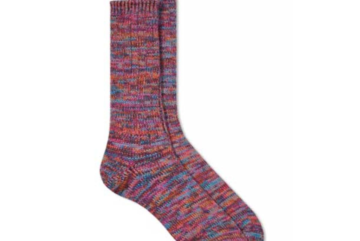 anonymous ism five color mix crew sock