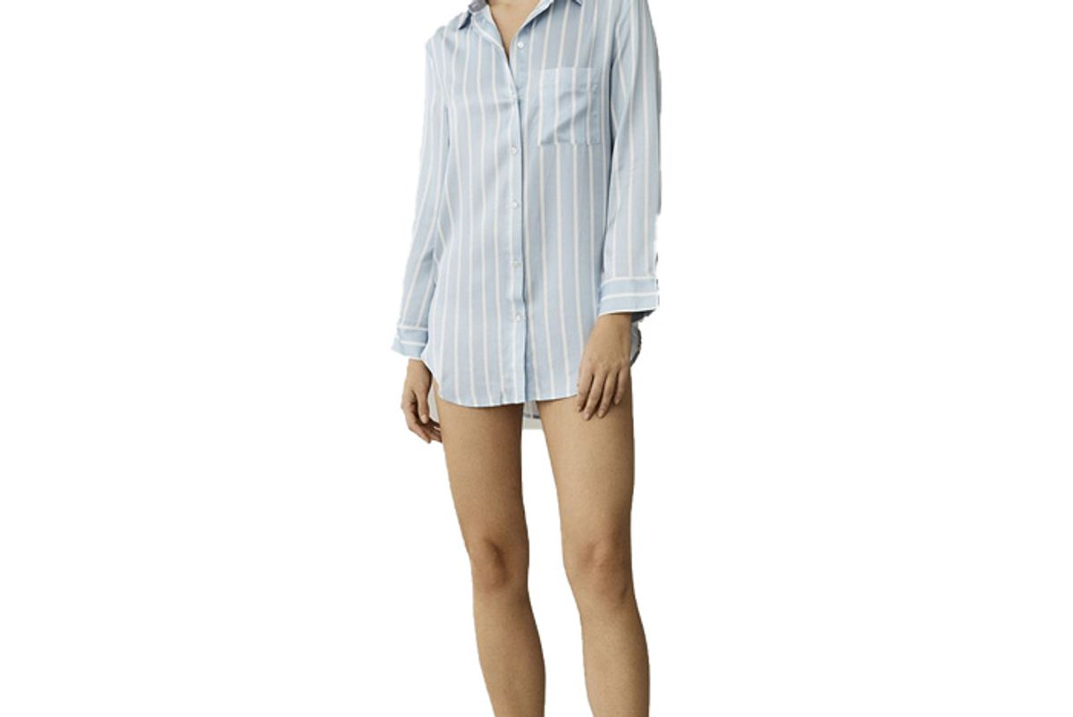 asceno milan sky stripe oversized pajama shirt