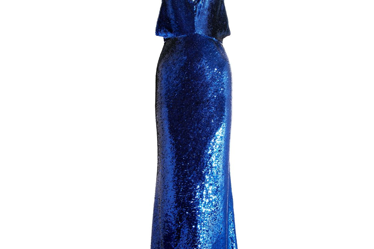 Sequined Silk Gown