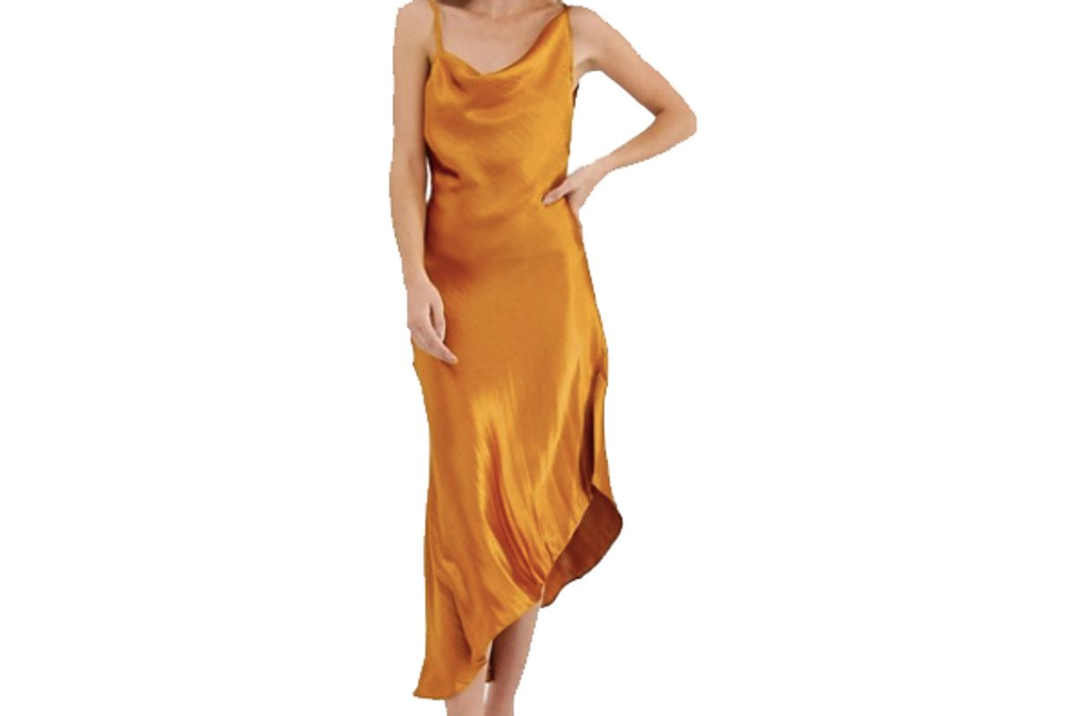 asos design midi slip dress