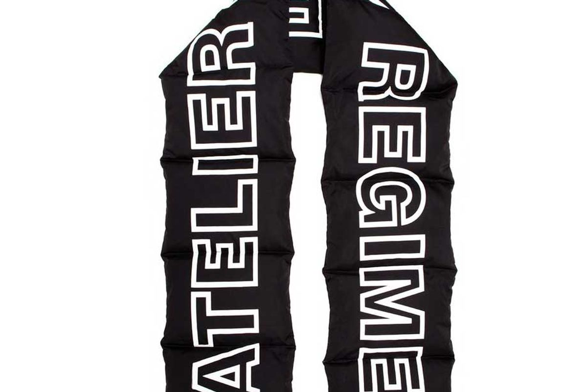 atelier new regime oversized down puffer scarf