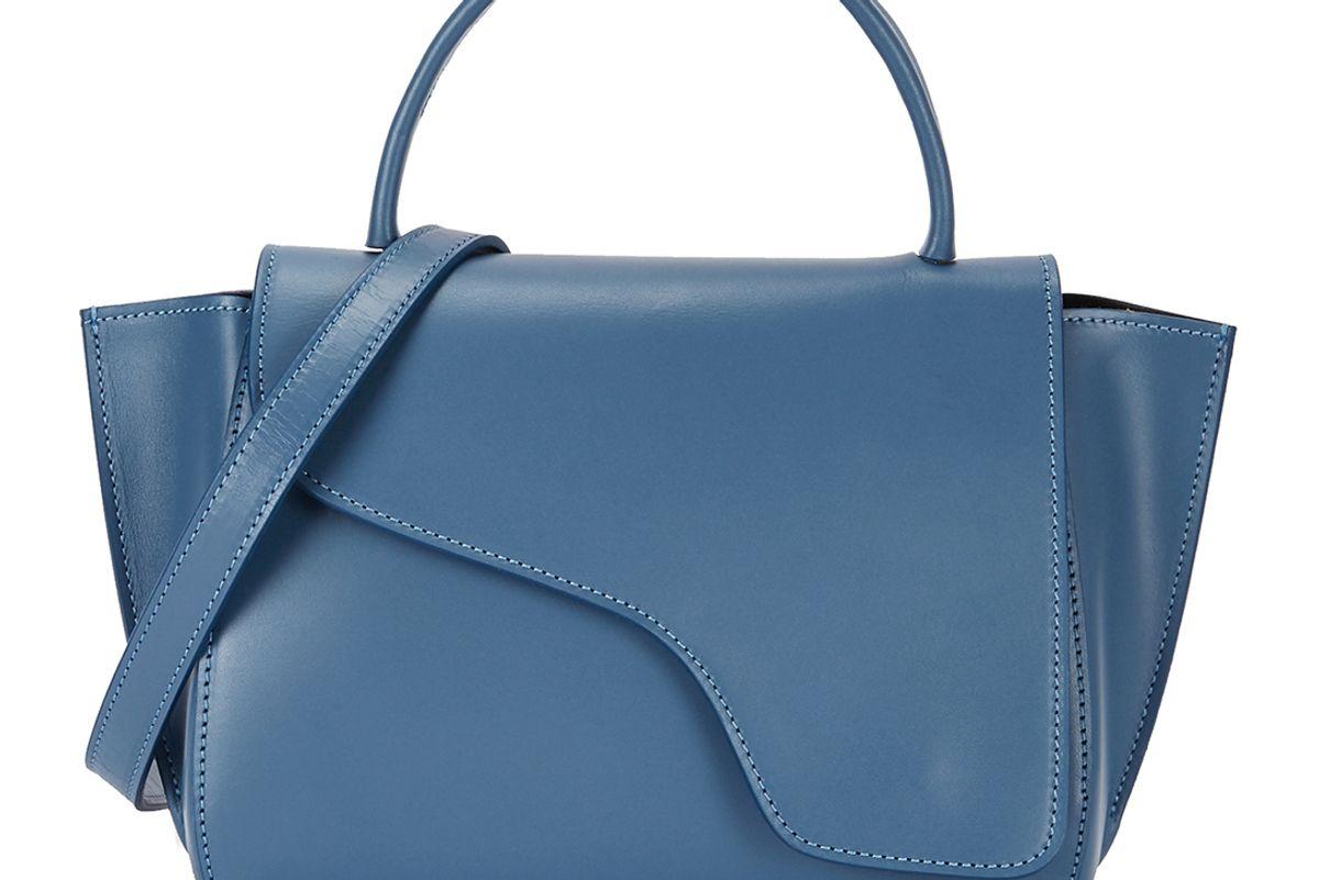 atp atelier arezzo blue leather shoulder bag
