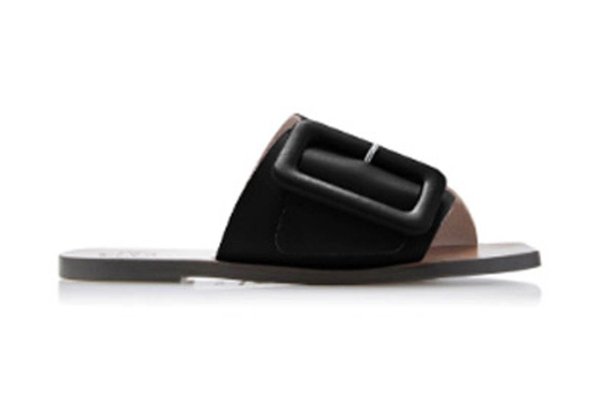 atp atelier r19 ceci buckled leather slides
