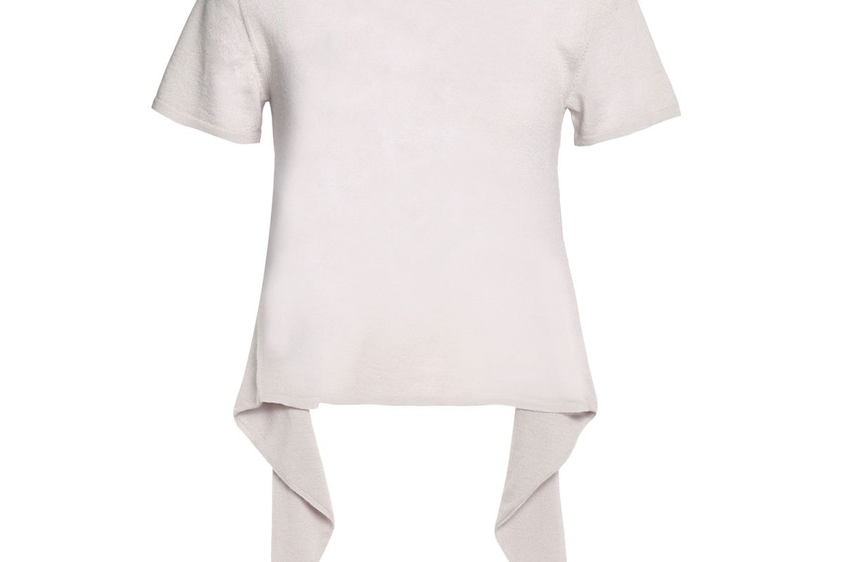 autumn cashere tie back cashmere top