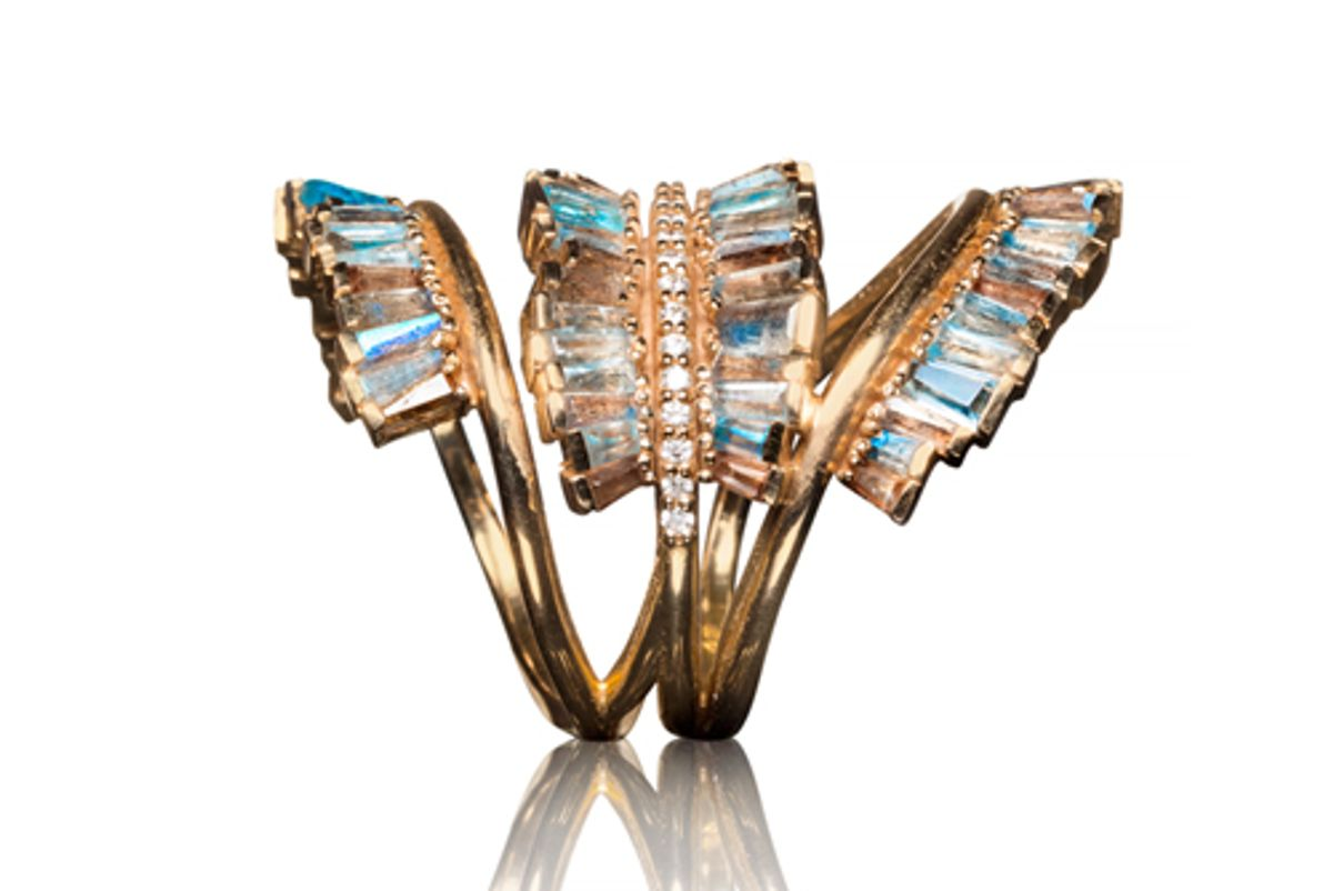 auverture triple ruched ring