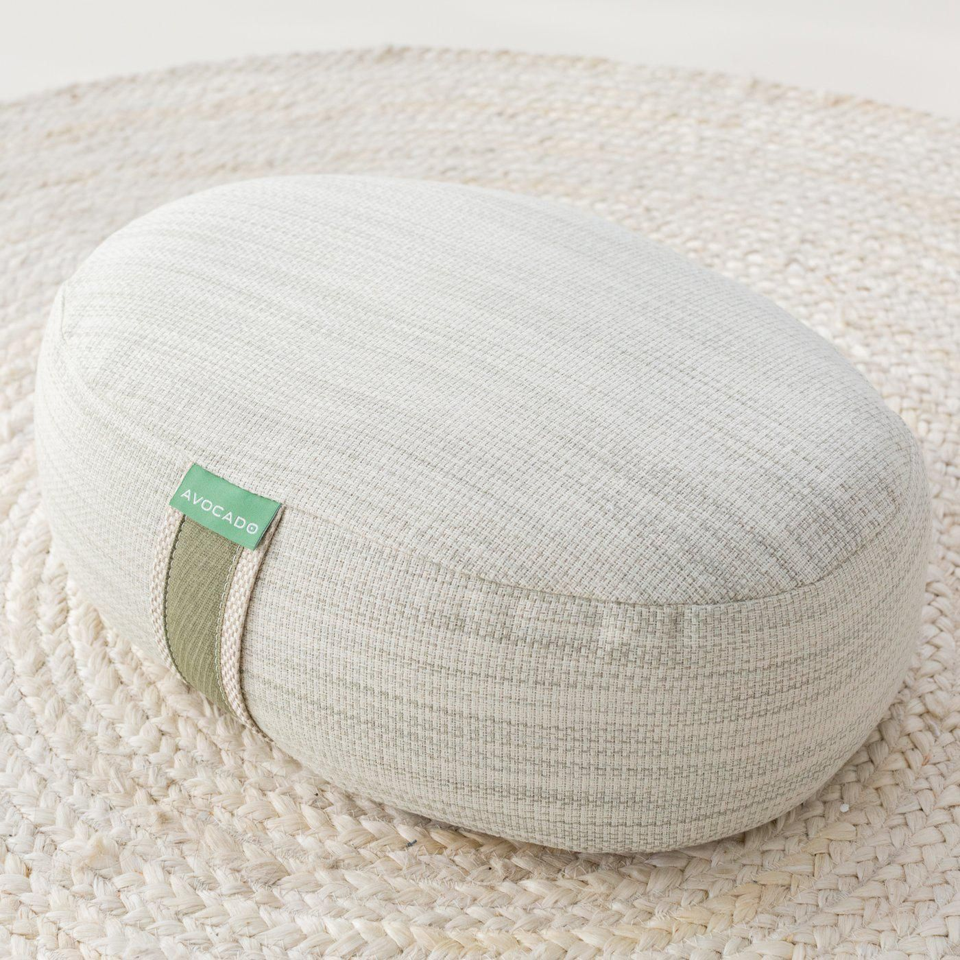 avocado organic yoga meditation pillow