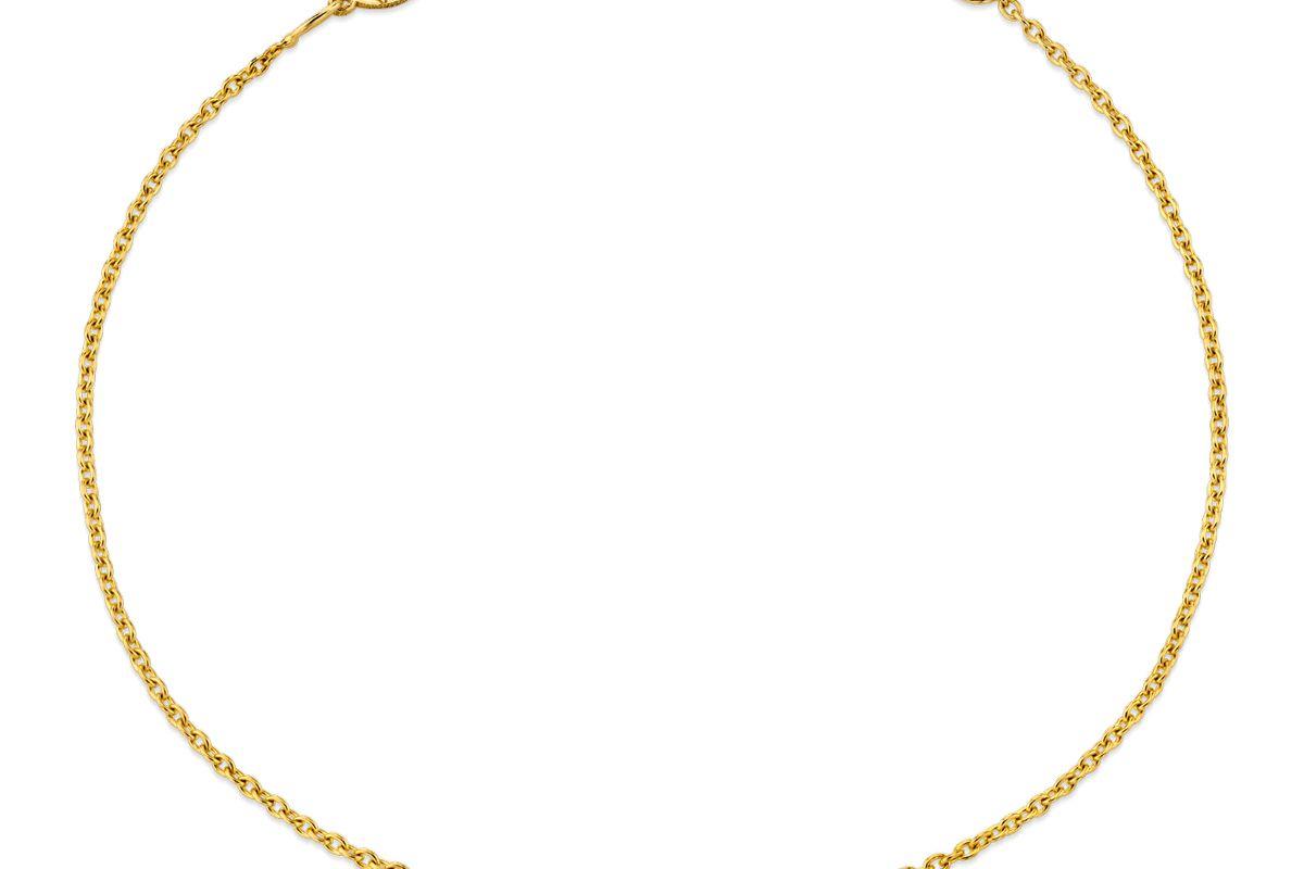 baby gold diamond pave letter bracelet