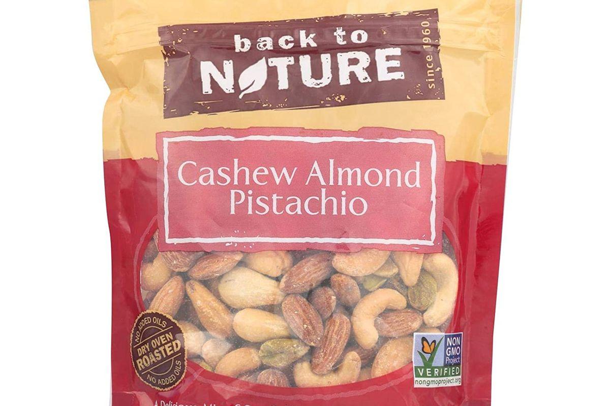 back to nature trail mix non gmo cashew almond pistachio blend