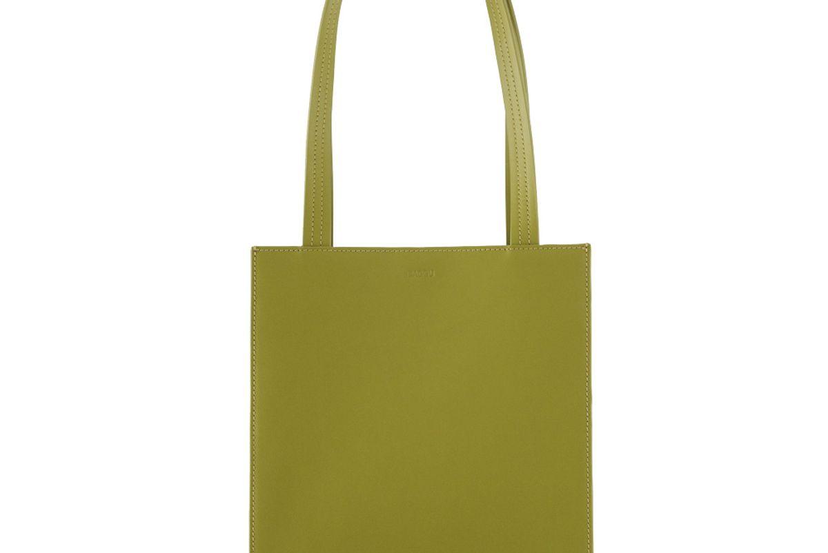 baggu medium leather retail tote