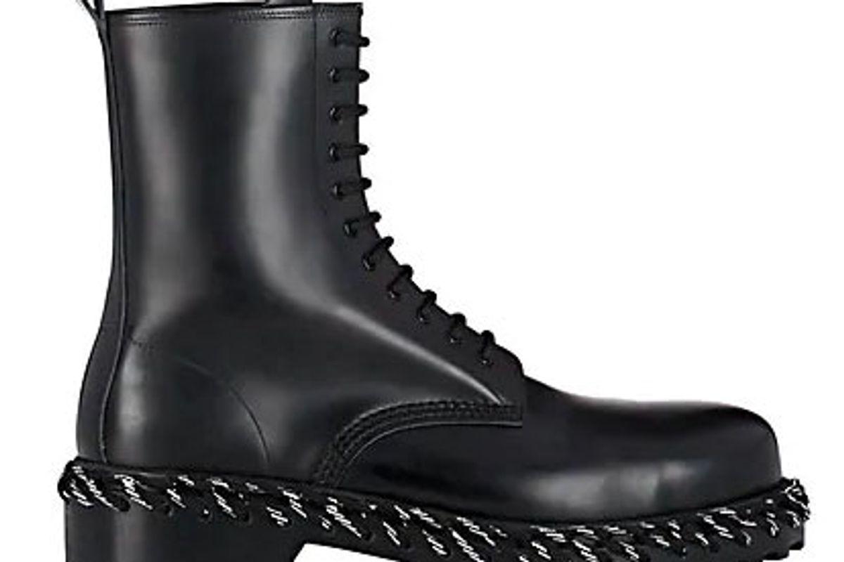 balenciaga lacing detailed leather boots